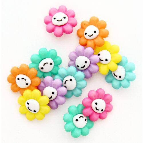 Jesse James - Buttons - Happy Little Flowers
