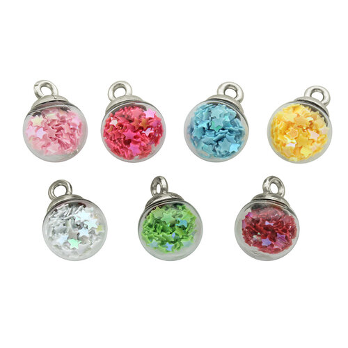 Jesse James - Buttons - Rainbow Mini Bubbles