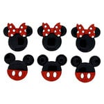Jesse James - Disney - Buttons - Mickey and Minnie Glitter