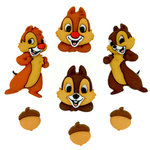 Jesse James - Disney - Buttons - Chip and Dale