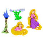 Jesse James - Disney - Buttons - Rapunzel