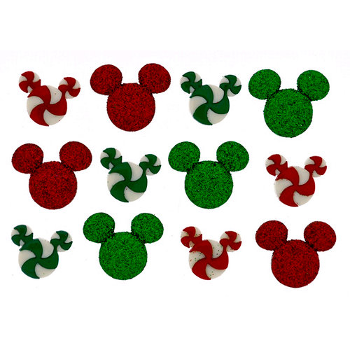 Jesse James - Disney - Buttons - Holiday Candies - Christmas
