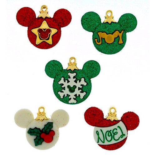 Jesse James - Disney - Buttons - Mickey Ornaments - Christmas