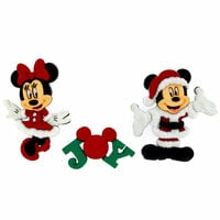 Jesse James - Disney - Buttons - Mickey and Minnie - Christmas