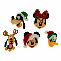 Jesse James - Disney - Buttons - Holiday Heads - Christmas