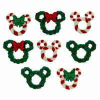 Jesse James - Disney - Buttons - Wreaths and Canes - Christmas