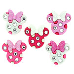 Jesse James - Disney - Buttons - Minnie Rhinestone Head