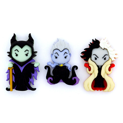Jesse James - Disney - Buttons - Ursula, Cruella DeVil and Maleficent
