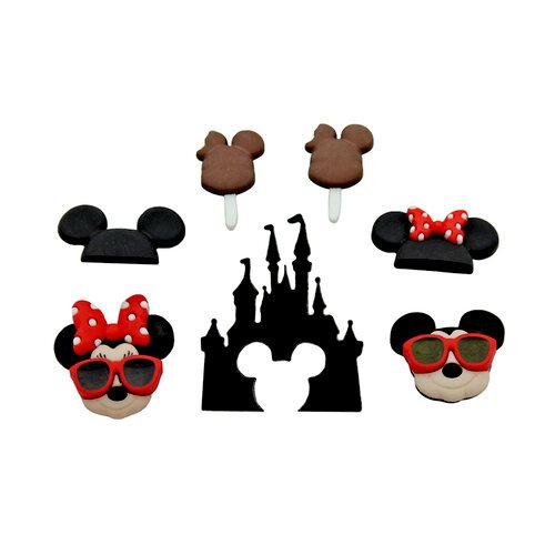 Jesse James - Disney - Buttons - Mickey and Minnie Fun In The Sun