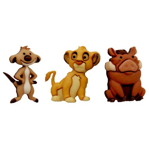 Jesse James - Disney - Buttons - Simba, Timon and Pumbaa
