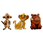 Jesse James - Disney - Buttons - Simba, Timon and Pumbaa