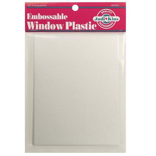 Judikins Embossable Window Plastic Sheets - 20 Sheets