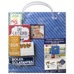 K and Company - 8.5 x 11 Pocket Journal Kit - Stripes - Blue