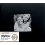 K and Company - 8 x 8 Scrapbook Window Album - Fabric - Black