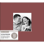 K and Company - 8 x 8 Scrapbook Window Album - Fabric - Burgundy