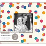 K and Company - 8 x 8 Scrapbook Window Album - Dot - Multi