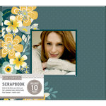 K and Company - 8 x 8 Scrapbook Window Album - Mod - Floral