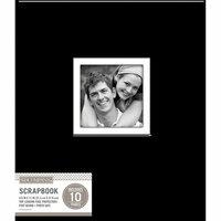K and Company - 8.5 x 11 Scrapbook Window Album - Fabric - Black