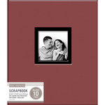 K and Company - 8.5 x 11 Scrapbook Window Album - Fabric - Burgundy