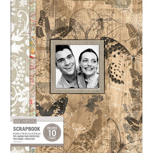 K and Company - 8.5 x 11 Scrapbook Window Album - Collage - Vintage Floral