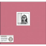 K and Company - 12 x 12 Scrapbook Window Album - Fabric - Pink