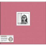 K and Company - 12 x 12 Scrapbook Window Album - Fabric - Pink
