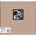 K and Company - 12 x 12 Scrapbook Window Album - Fabric - Camel