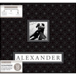 K and Company - Frame a Name - 12 x 12 Scrapbook Album - Black