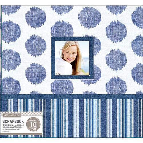 K and Company - 12 x 12 Scrapbook Window Album - Collage - Vintage Blue