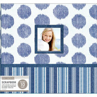 K and Company - 12 x 12 Scrapbook Window Album - Collage - Vintage Blue