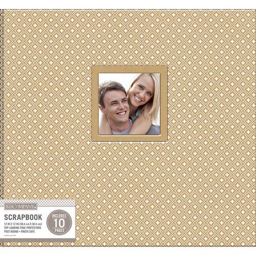 K and Company - 12 x 12 Scrapbook Window Album - Diamond - Kraft