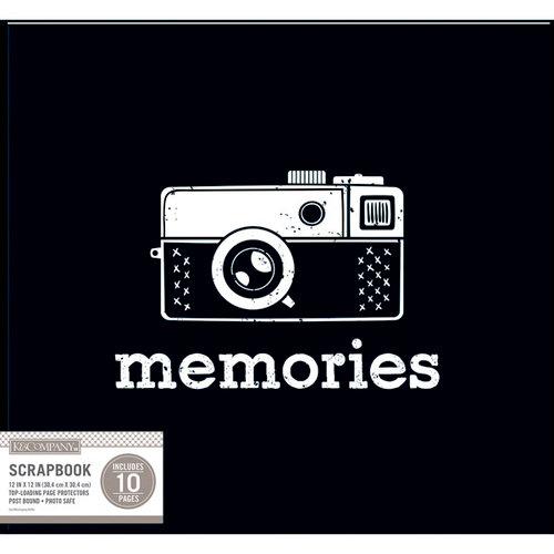 K and Company - 12 x 12 Scrapbook Window Album - Vintage Memories - Black