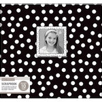 K and Company - 12 x 12 Scrapbook Window Album - Dots - Black and White