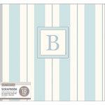K and Company - 12 x 12 Scrapbook Album - Monogram - Stripe - Blue