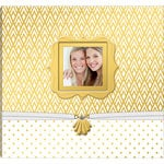 K and Company - 12 x 12 Boxed Scrapbook - Gold and White