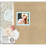 K and Company - 12 x 12 Boxed Scrapbook - Burlap