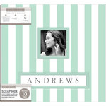 K and Company - Frame a Name - 12 x 12 Scrapbook Album - Stripe - Mint