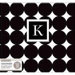 K and Company - 12 x 12 Scrapbook Album - Monogram - Dot - Black