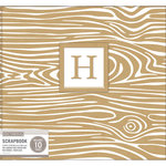 K and Company - 12 x 12 Scrapbook Album - Monogram - Woodgrain