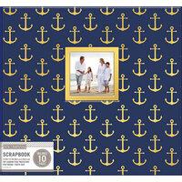K and Company - 12 x 12 Scrapbook Window Album - Nautical