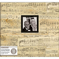 K and Company - 12 x 12 Scrapbook Window Album - Vintage Music
