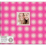 K and Company - 12 x 12 Scrapbook Window Album - Warm Starburst