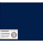 K and Company - 8 x 8 Scrapbook Album - Basic Faux Leather - Navy