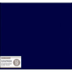K and Company - 12 x 12 Scrapbook Album - Basic Faux Leather - Navy