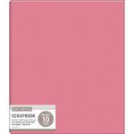 K and Company - 8.5 x 11 Scrapbook Album - Basic Faux Leather - Pink