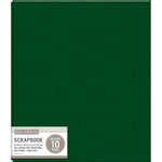 K and Company - 8.5 x 11 Scrapbook Album - Basic Faux Leather - Hunter