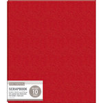 K and Company - 8.5 x 11 Scrapbook Album - Basic Faux Leather - Red