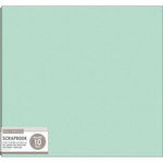 K and Company - 12 x 12 Scrapbook Album - Basic Faux Leather - Mint