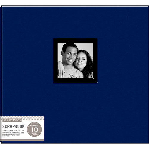 K and Company - 12 x 12 Scrapbook Window Album - Fabric - Navy