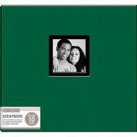 K and Company - 12 x 12 Scrapbook Window Album - Fabric - Hunter